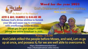 Word For The New Year and Month of January 2021