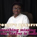 Something missing 1: Your Prayer is heard!