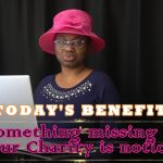 Something missing 2: Your Charity is noticed!